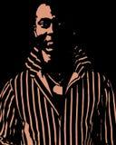 Uomo di colore che lo esamina Fotografia Stock