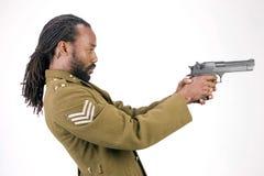 Uomo di colore dell'esercito di Rasta fotografia stock libera da diritti