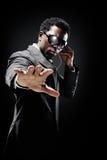 Uomo di colore della guardia del corpo Fotografie Stock