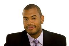 Uomo di colore sicuro Nizza in vestito immagine stock libera da diritti