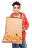 Uomo di consegna della pizza Immagini Stock Libere da Diritti