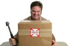 Uomo di consegna diabolico Fotografie Stock Libere da Diritti