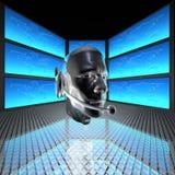 Uomo di Cyber, testa dei robot Fotografia Stock Libera da Diritti