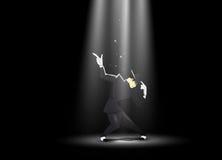 Uomo di Dancing Illustrazione di vettore Fotografie Stock Libere da Diritti