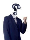 Uomo di domanda Immagini Stock