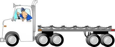 Uomo di drivin del camion Fotografia Stock Libera da Diritti