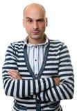 Uomo di dubbio caucasico bello con un'espressione curiosa immagini stock