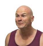 Uomo di espressione facciale Immagini Stock