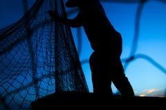 Uomo di Fisher Immagine Stock
