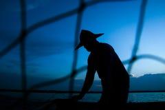 Uomo di Fisher Fotografia Stock Libera da Diritti
