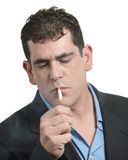 Uomo di fumo Immagine Stock Libera da Diritti
