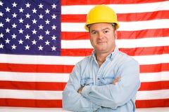 Uomo di funzionamento americano fotografia stock libera da diritti