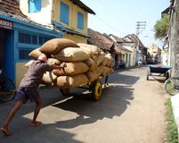 Uomo di funzionamento in India Immagini Stock Libere da Diritti