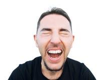 Uomo di grido. Fotografia Stock Libera da Diritti