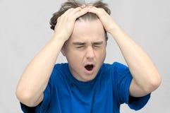 Uomo di grido arrabbiato Fotografie Stock Libere da Diritti