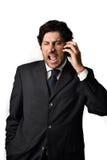 Uomo di grido di affari Fotografie Stock
