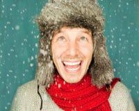 Uomo di inverno Fotografia Stock
