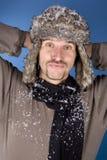 Uomo di inverno Fotografie Stock Libere da Diritti