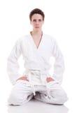 Uomo di karatè di Judoist Immagini Stock