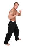 Uomo di Kickboxer fotografie stock libere da diritti