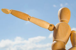 Uomo di legno Immagine Stock