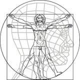 Uomo di Leonardo da Vinci Fotografie Stock