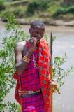 Uomo di Maasai Fotografia Stock Libera da Diritti