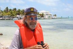Uomo di mare anziano Fotografia Stock Libera da Diritti