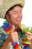 Uomo di Margarita - pollici in su immagini stock libere da diritti