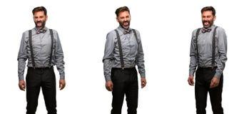 Uomo di medio evo che indossa un vestito Fotografie Stock Libere da Diritti