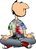 Uomo di meditazione Fotografie Stock