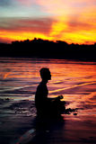 Uomo di meditazione Fotografie Stock Libere da Diritti