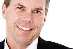 Uomo di mezza età sorridente Fotografia Stock Libera da Diritti