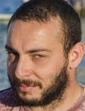 uomo di modello con verde degli occhi (toscany) Immagini Stock Libere da Diritti