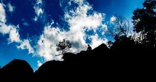 Uomo di montagna Fotografie Stock
