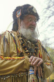 Uomo di montagna in costume pieno in autunno, Waterloo, NJ Fotografia Stock Libera da Diritti