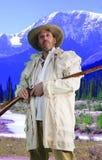 Uomo di montagna in Rocky Mountains fotografia stock