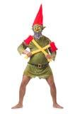Uomo di mostro con le asce isolate Fotografia Stock