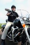 Uomo di Motorcylce Fotografia Stock