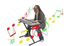 Uomo di musica Fotografia Stock
