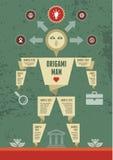 Uomo di origami Immagini Stock