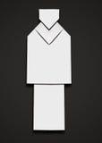 Uomo di origami Fotografia Stock