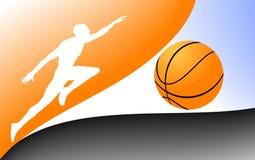 Uomo di pallacanestro Fotografie Stock