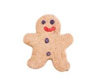 Uomo di pan di zenzero Fotografie Stock