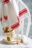 Uomo di pan di zenzero al Natale Fotografia Stock