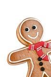 Uomo di pan di zenzero sorridente Immagini Stock Libere da Diritti