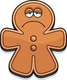 Uomo di pan di zenzero triste del fumetto Fotografie Stock