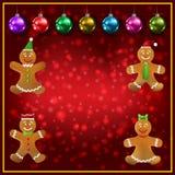 Uomo di pan di zenzero di celebrazione e decoratio accoglienti rossi di Natale fotografia stock libera da diritti