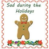 Uomo di pan di zenzero triste Fotografia Stock