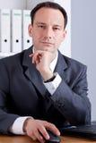 Uomo di pensiero di affari Immagini Stock Libere da Diritti